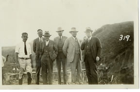 Left to Right: Howard Walton, Don Smiley, DW Albert, Frank Collins, Mr. Evens, and Ray Carberry